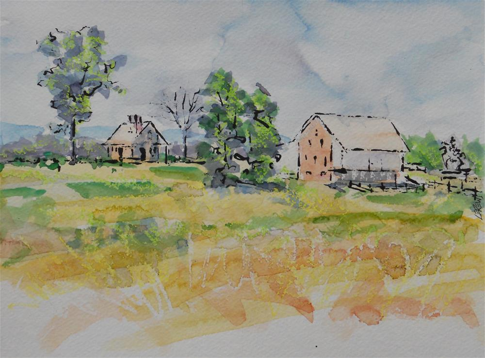"""McPherson Barn, Gettysburg Battlefield, by Larry Lerew 120712"" original fine art by Larry Lerew"
