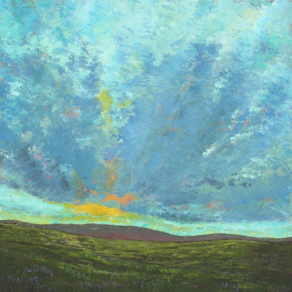 """Cloud Burst"" original fine art by Sage Mountain"