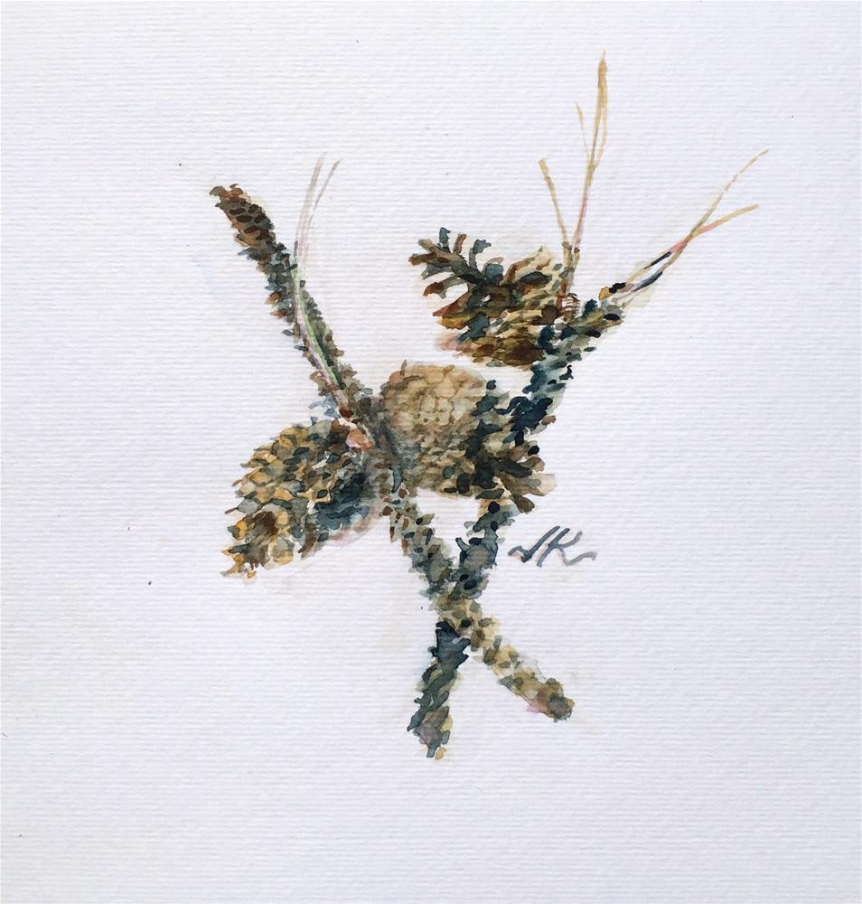 """Ponderosa Twigs"" original fine art by Jean Krueger"