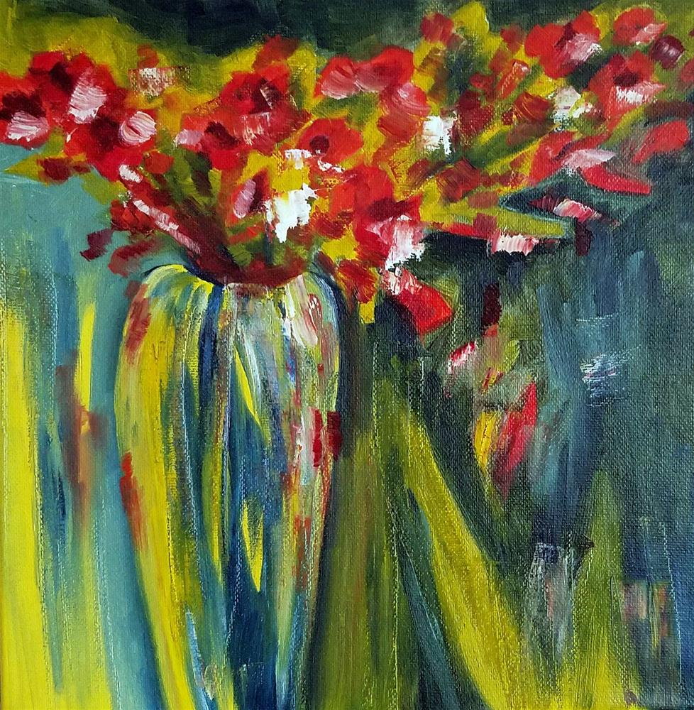 """Floral Whimsy"" original fine art by Anne Pekie"
