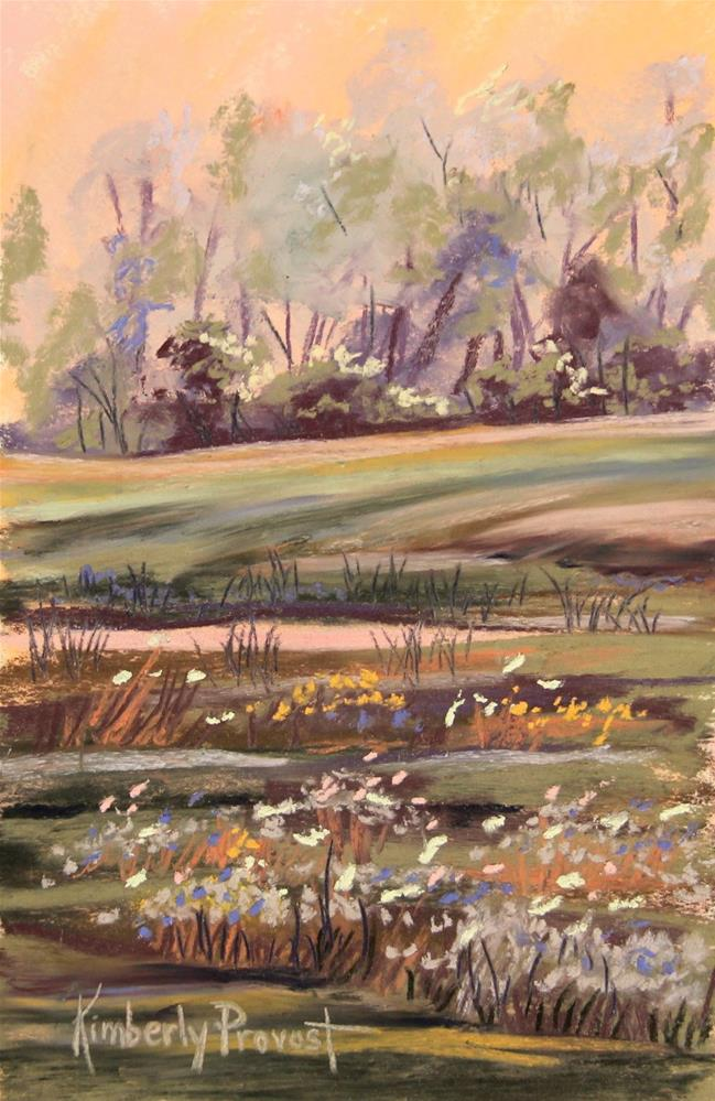 """Flowers on the Meadow"" original fine art by Kimberly Provost"