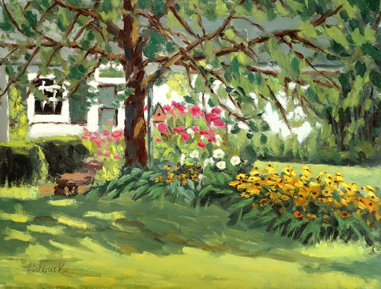 """Secret Garden, en Plein air"" original fine art by Daniel Fishback"