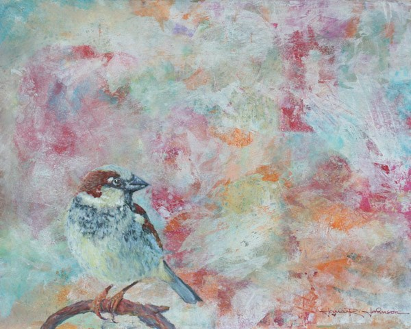 """Sparrow"" original fine art by Jana Johnson"