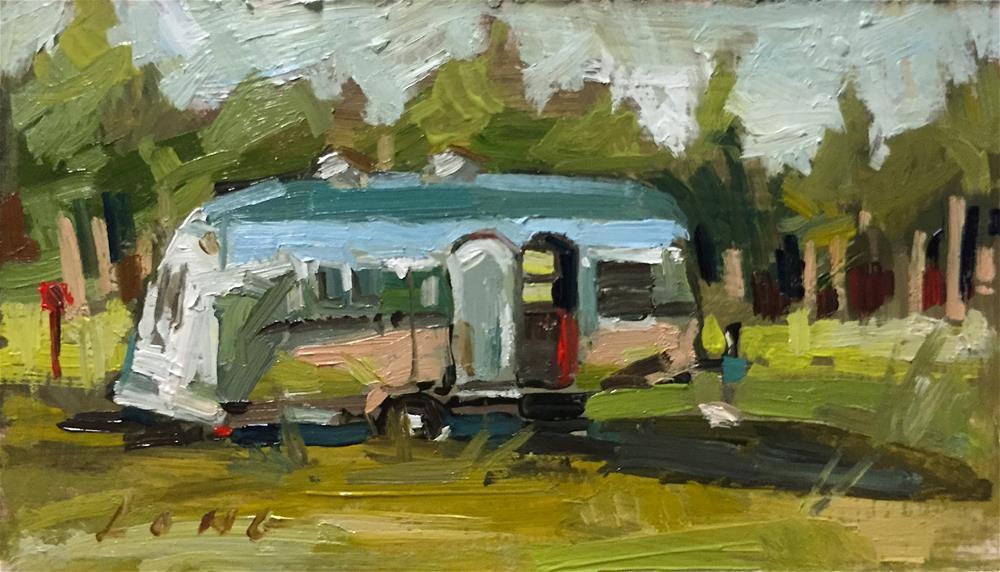 """Airstream #2"" original fine art by Chris Long"