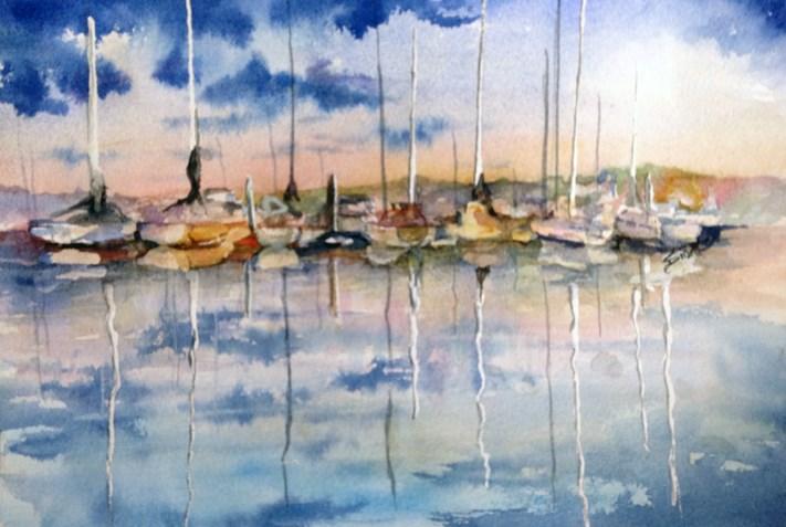 """Evening Sun"" original fine art by Sue Dion"