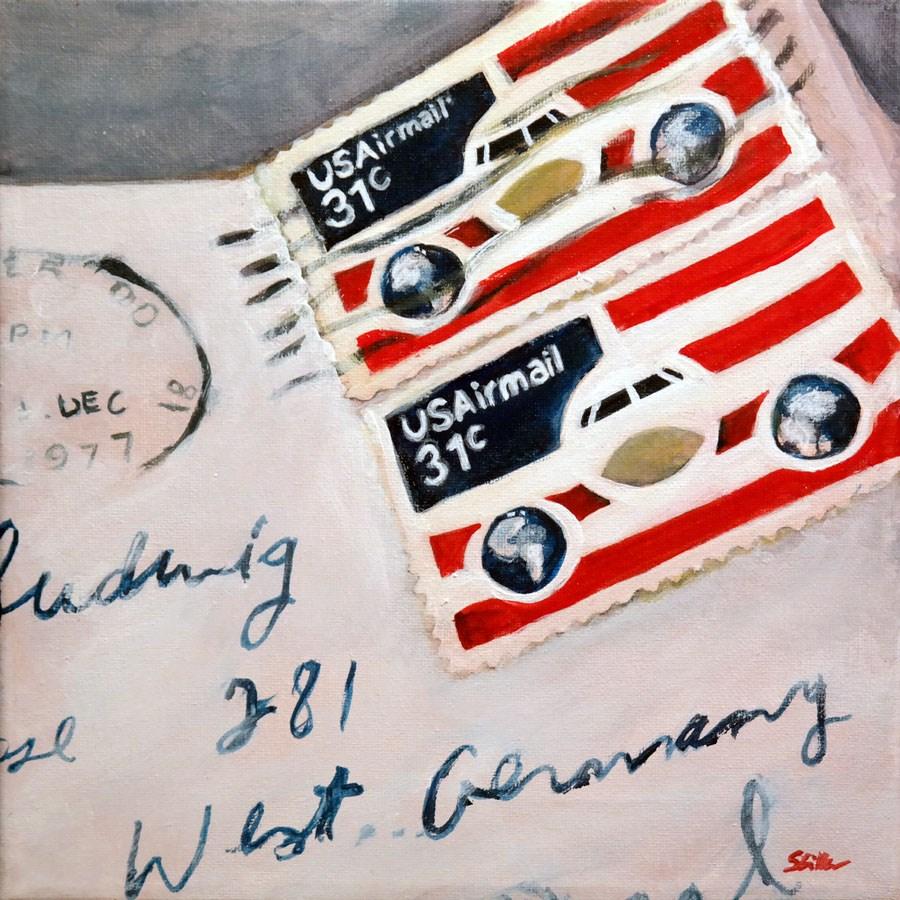 """1317 USAirmail"" original fine art by Dietmar Stiller"