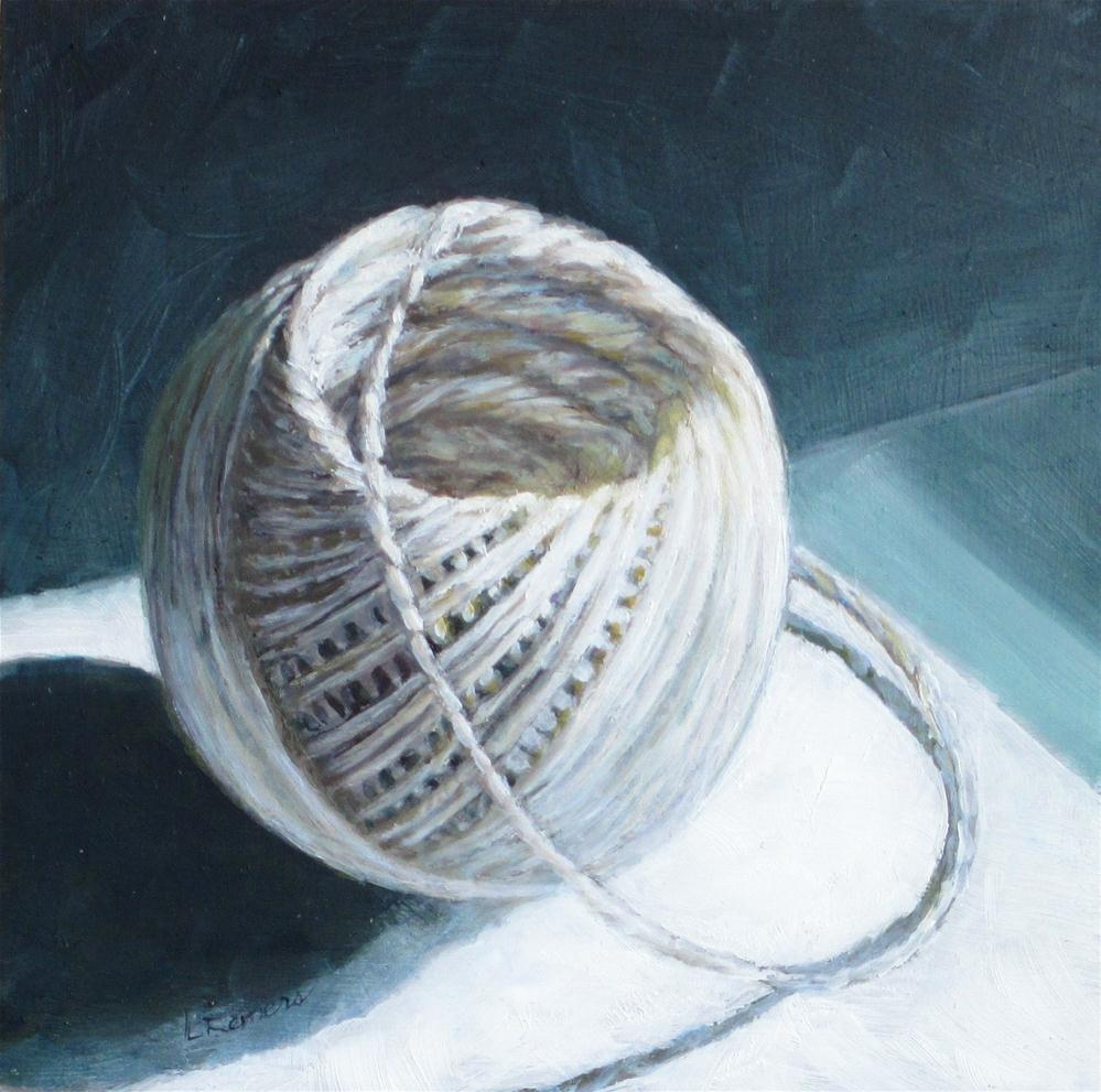 """Ball of Twine"" original fine art by Linda Demers"