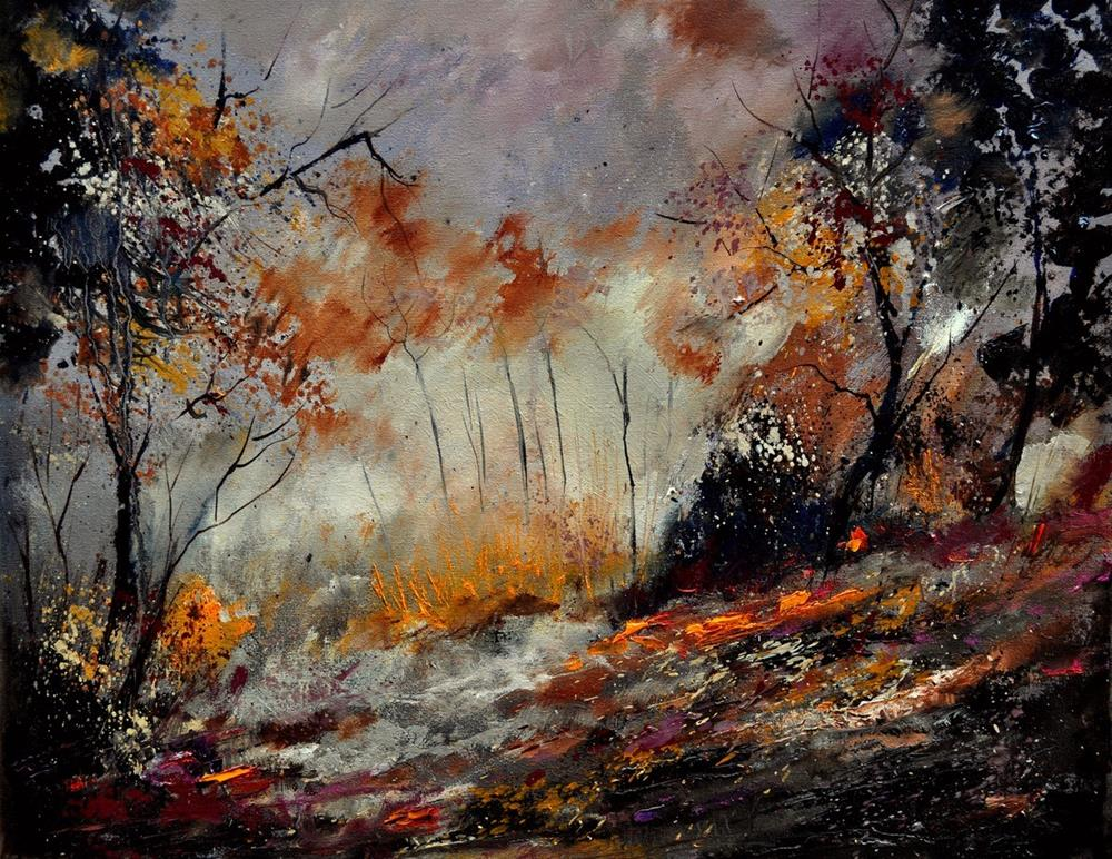 """autumn 454101"" original fine art by Pol Ledent"