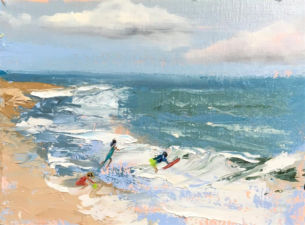 """Into the Surf"" original fine art by Patty Barnes"