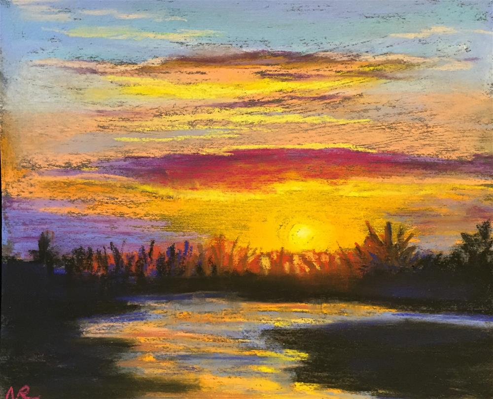 """sunset"" original fine art by Natasha Ramras"