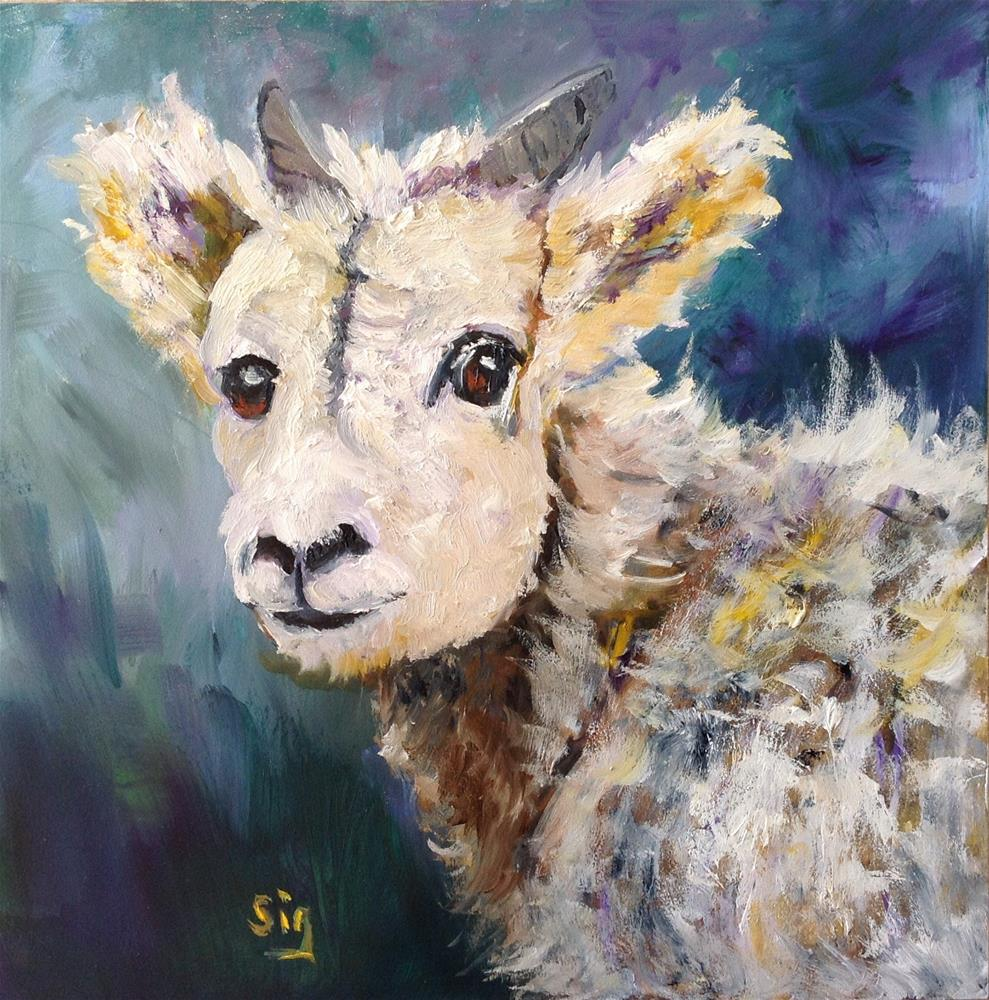 """Banf Canada mountain goat"" original fine art by Sigrid Victor"