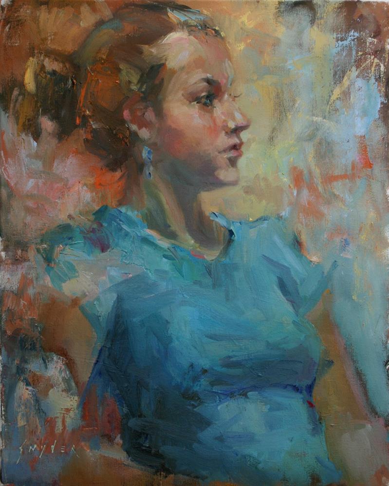 """""""Blue and Gold"""" original fine art by Julie Snyder"""
