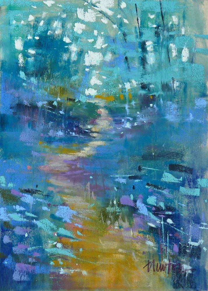 """Wooded Trail"" original fine art by Barbara Benedetti Newton"