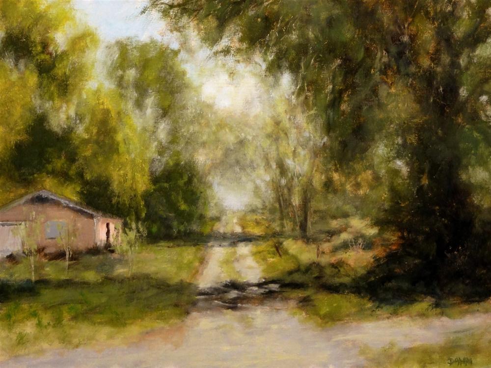 """Country Road Louisiana, Bright Path Challenge"" original fine art by Dalan Wells"