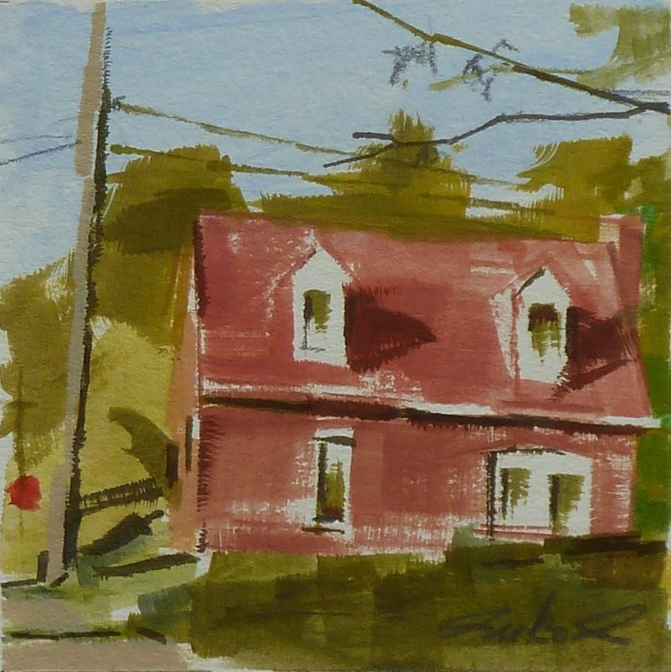 """West Third St."" original fine art by Ron Ferkol"