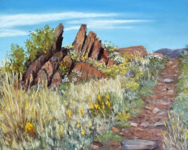 """Four Mile Rock"" original fine art by Nelia Harper"