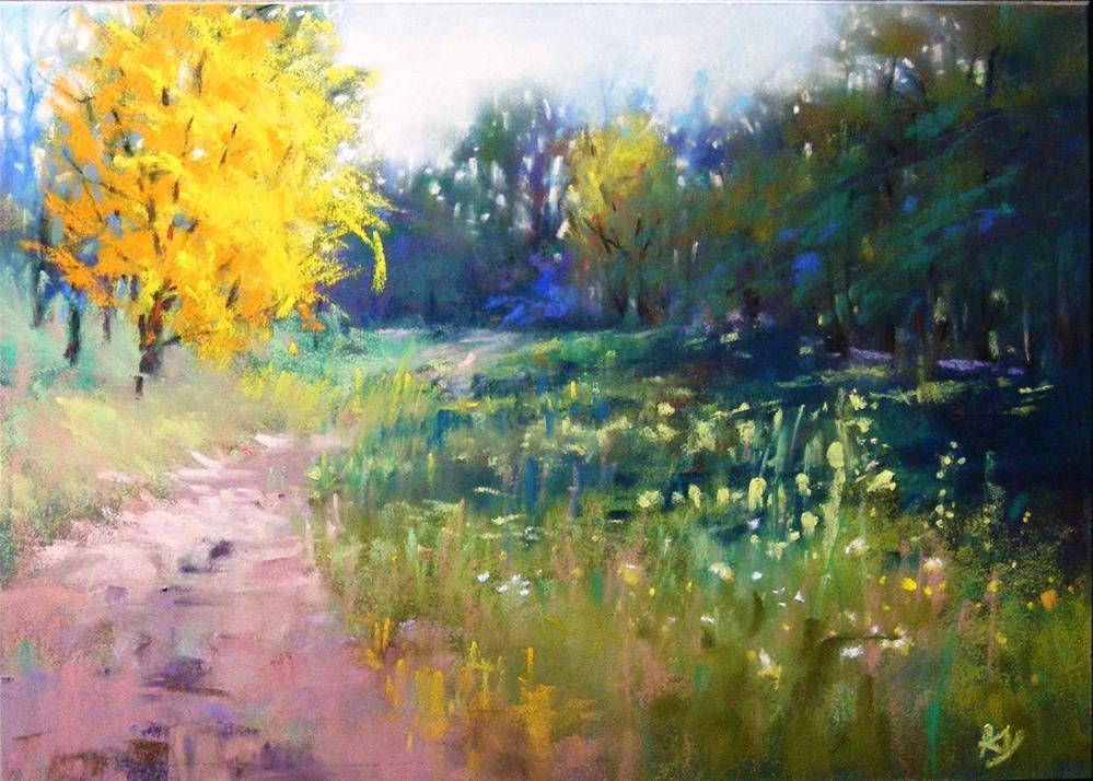 """""""Place in the sun"""" original fine art by Celine K.  Yong"""