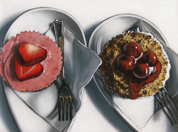"""""""Untitled Cupcake Commission"""" original fine art by Jelaine Faunce"""