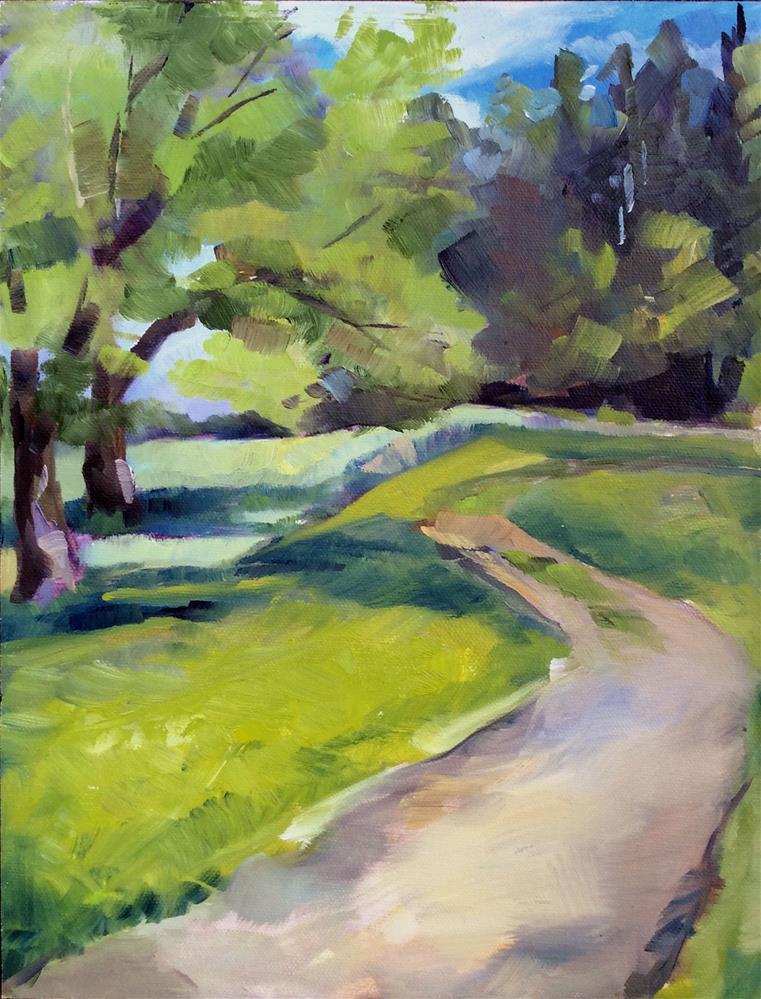 """Afternoon Walk"" original fine art by Kathleen Gray Farthing"