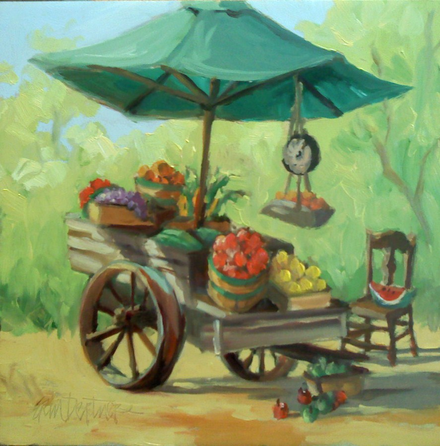 """Farmer's Market"" original fine art by Erin Dertner"