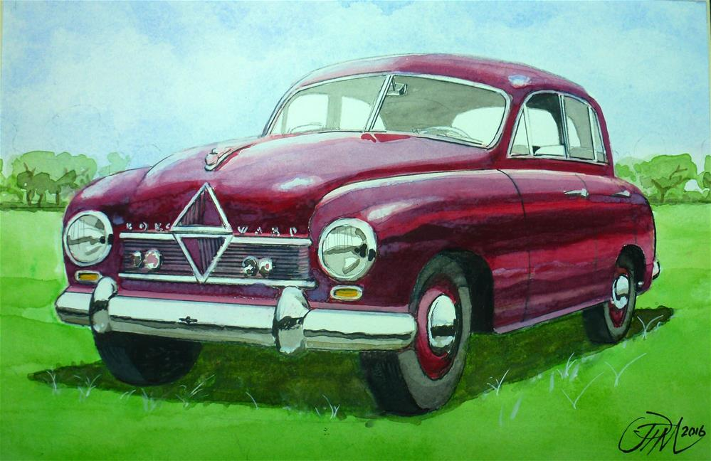 """1950's Borgward Hansa"" original fine art by John Monney"