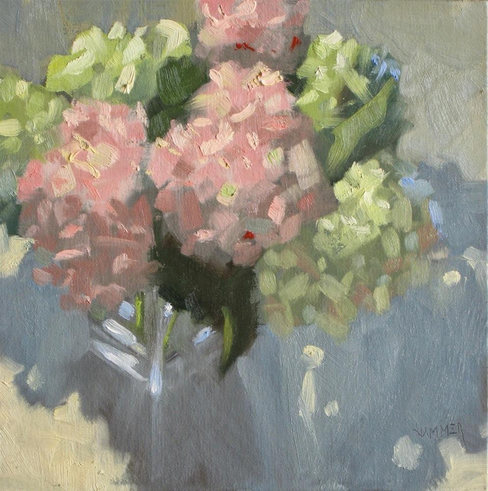 """It's in the pink, hydrangeas"" original fine art by Claudia Hammer"
