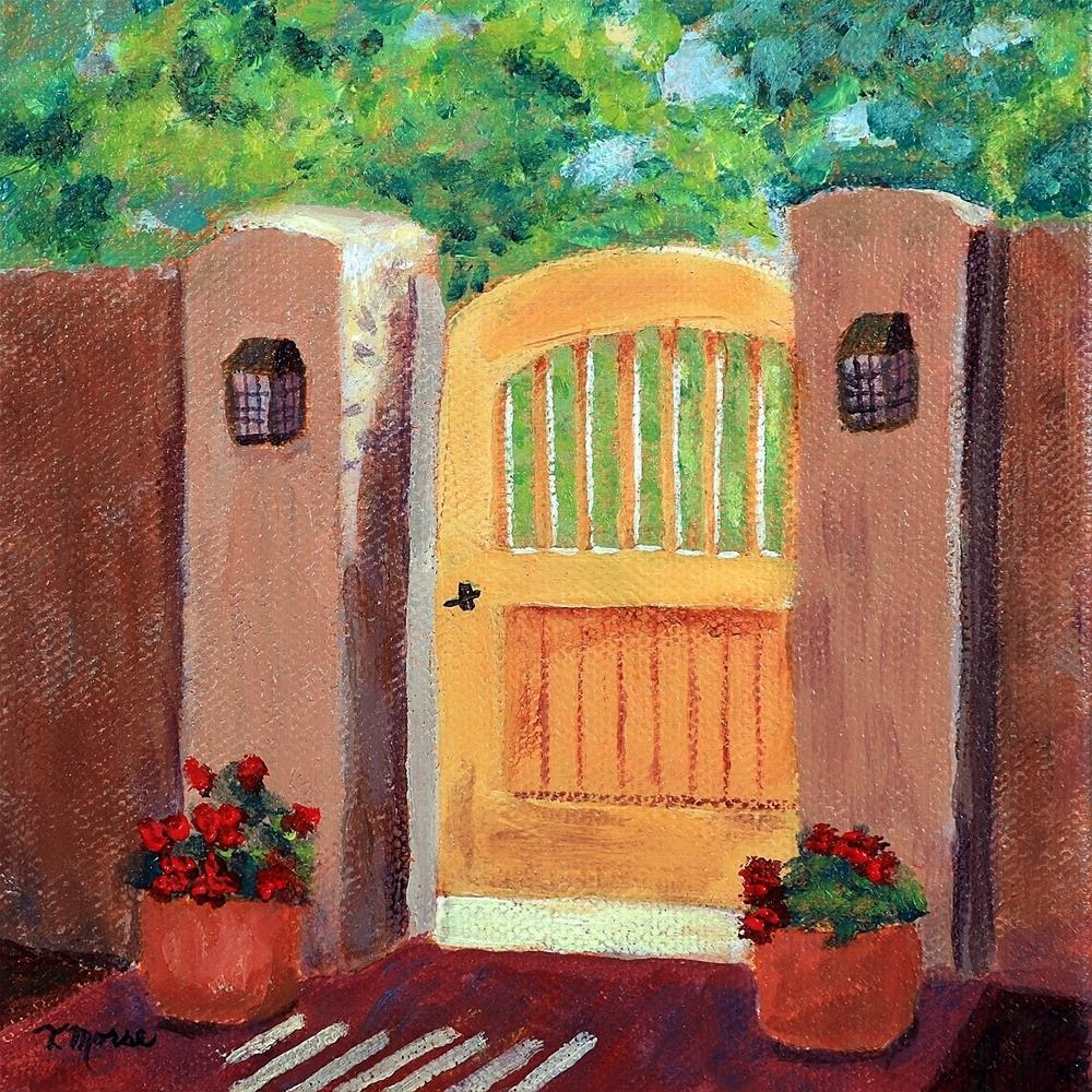 """Garden Gate"" original fine art by Theresa Morse"