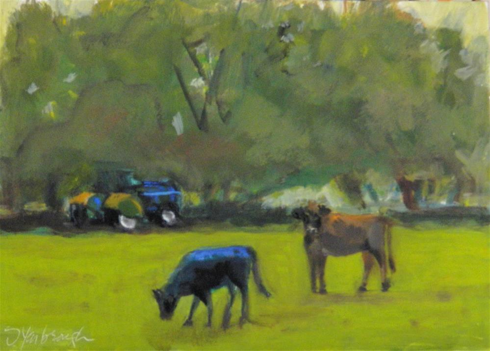 """Till the Cows Come Home"" original fine art by Sharon Yarbrough"