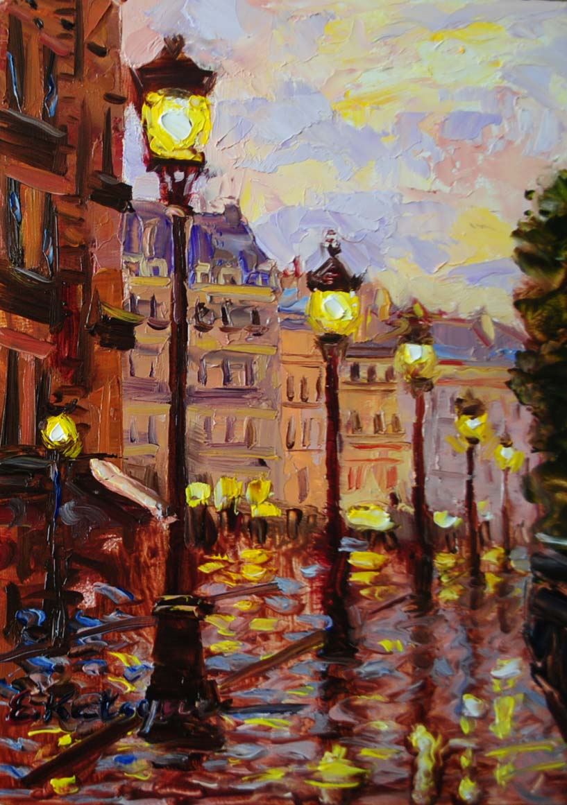 """""""Paris Lights"""" original fine art by Elena Katsyura"""