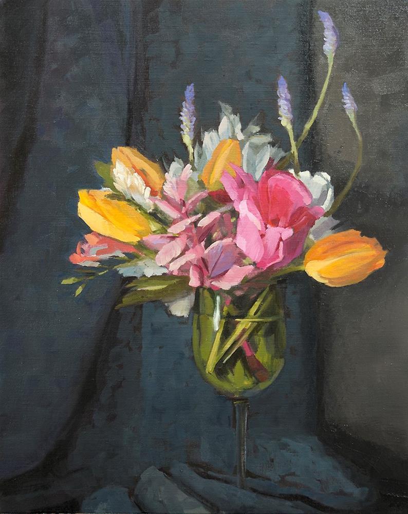 """""""Birthday Bouquet"""" original fine art by Miriam Hill"""