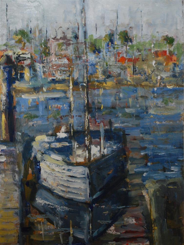 """Harbor Days"" original fine art by Deborah Harold"