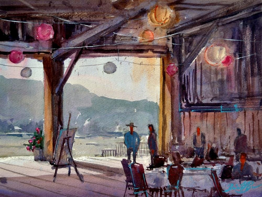 """Monet's Picnic"" original fine art by Brienne M Brown"