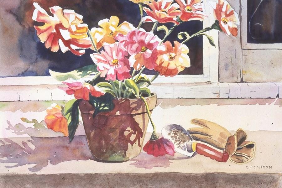 """""""Getting Settled"""" original fine art by Carol Cochran"""