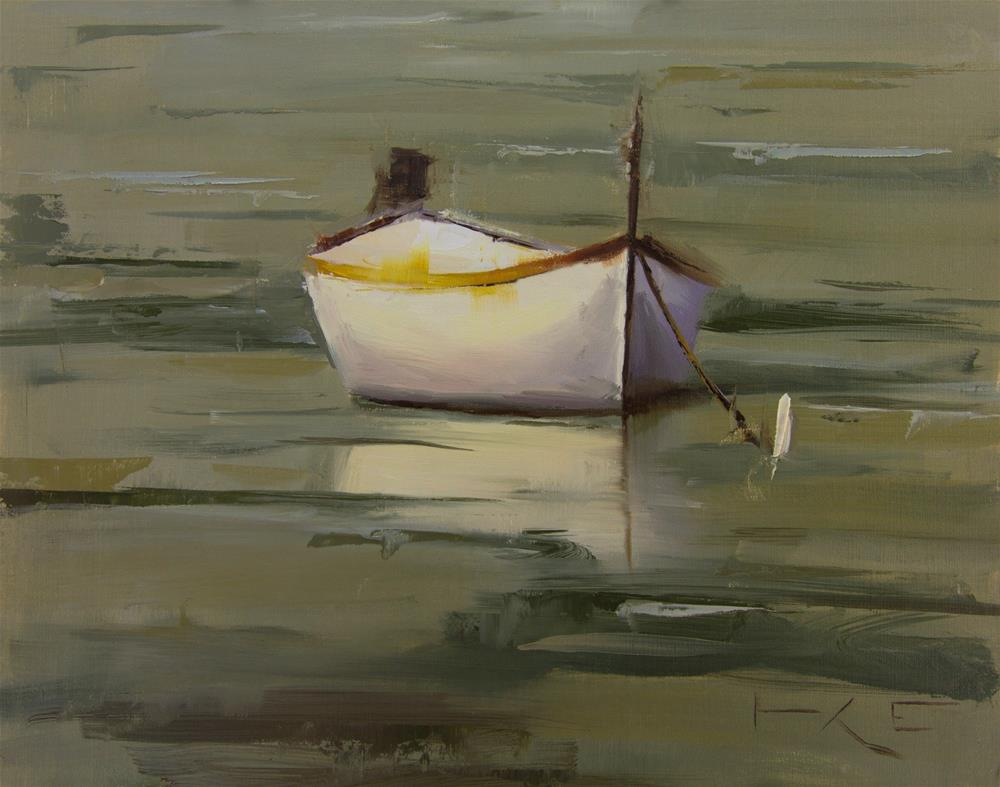 """Boat in Monterosso"" original fine art by Thorgrimur Andri Einarsson"