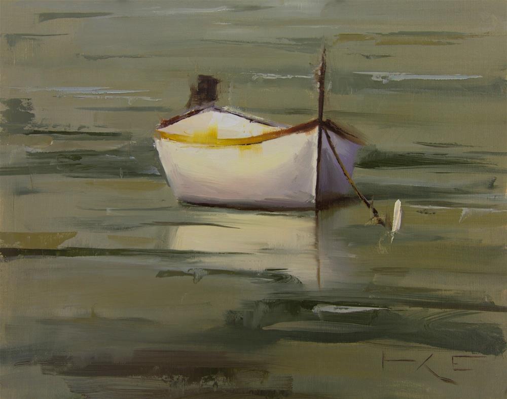 """""""Boat in Monterosso"""" original fine art by Thorgrimur Andri Einarsson"""