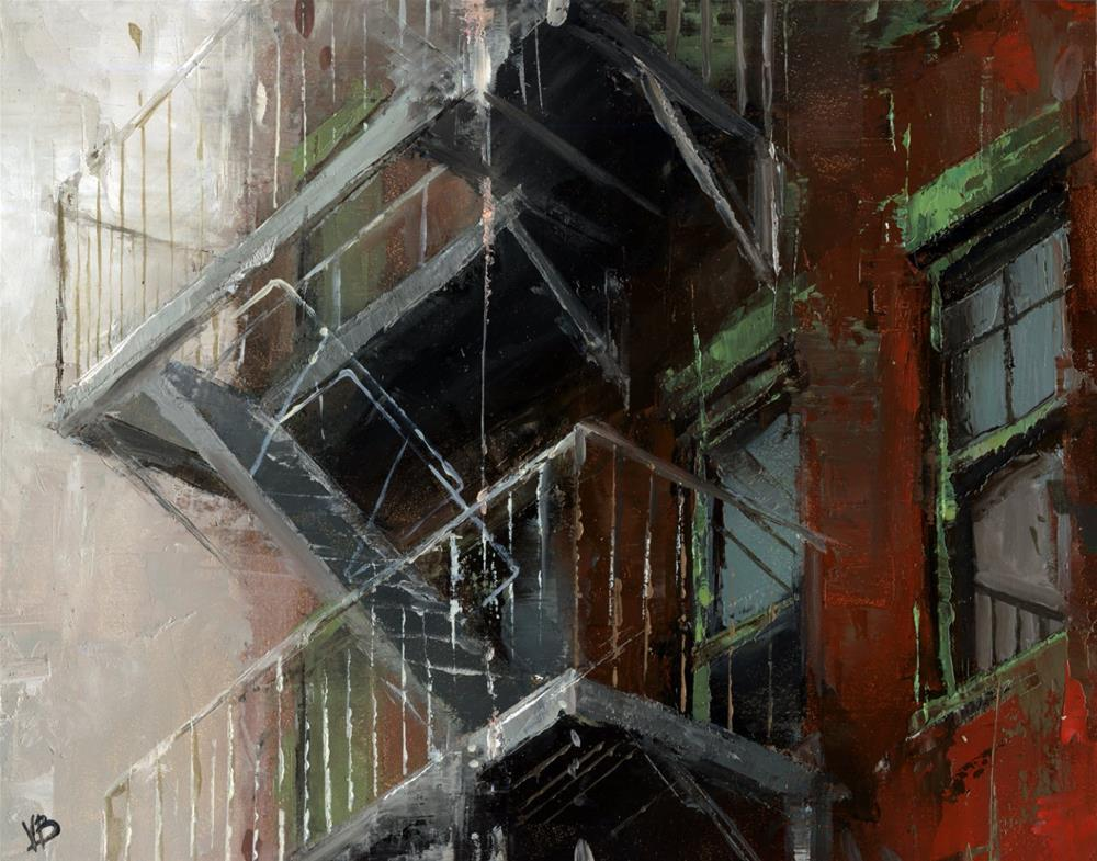 """Fire Escape NYC- No.4"" original fine art by Victor Bauer"