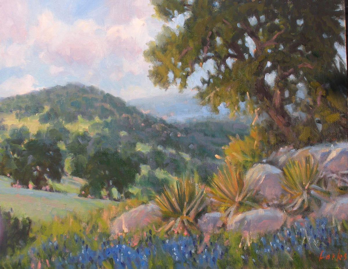 """Hilltop"" original fine art by David Forks"