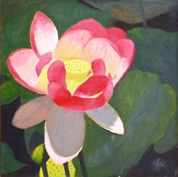 """""""Pink Lotus"""" original fine art by Gary Westlake"""