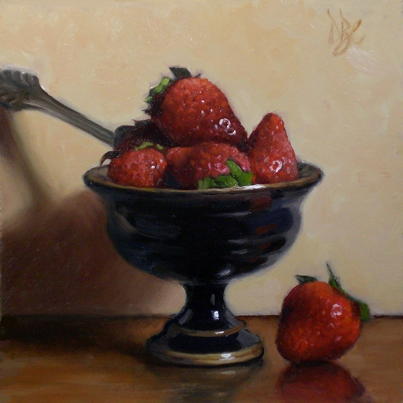 """Strawberries with Style"" original fine art by Debra Becks Cooper"