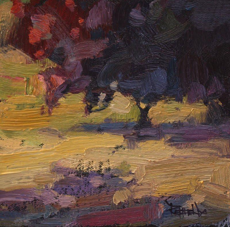"""""""Flowering Plum Tree - sold"""" original fine art by Cathleen Rehfeld"""