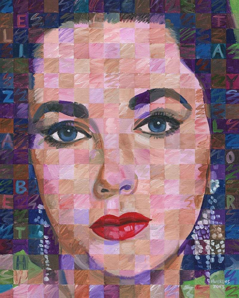 """Elizabeth Taylor #3"" original fine art by Randal Huiskens"