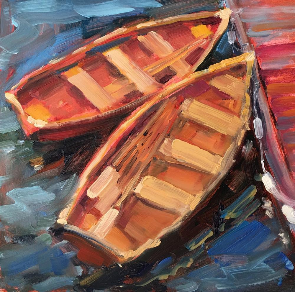 """""""Takes Two"""" original fine art by Deborah Newman"""