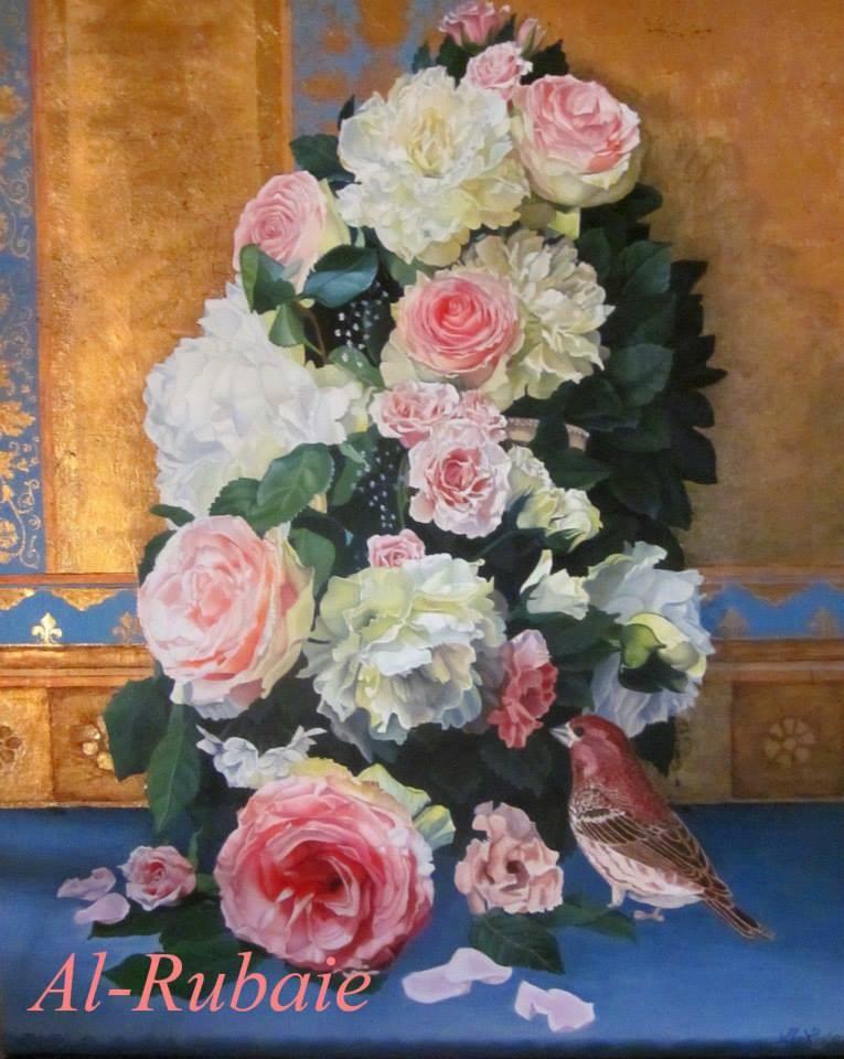 """Floral"" original fine art by Catherine Al-Rubaie"