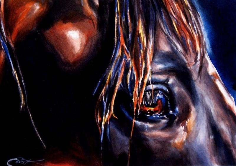 """Dark Horse"" original fine art by Crystal Cook"