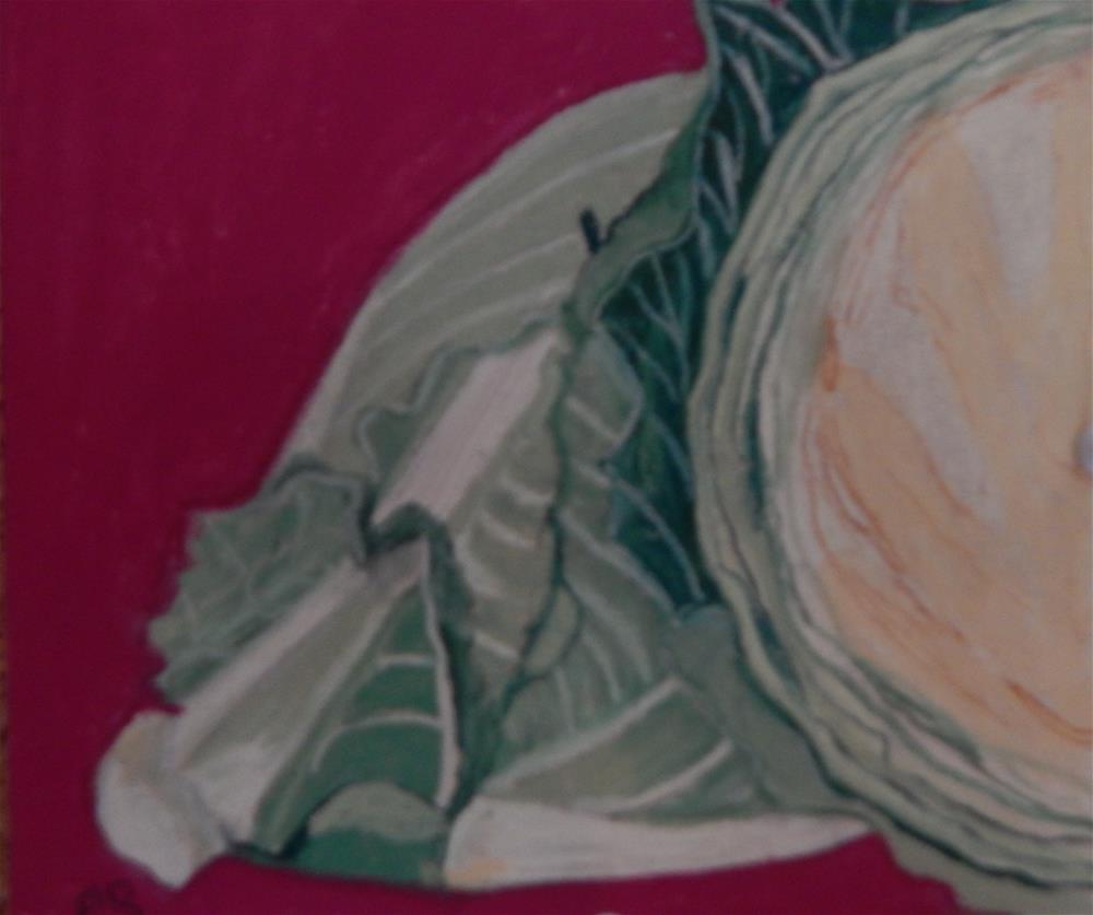 """Cabbage"" original fine art by Elaine Shortall"