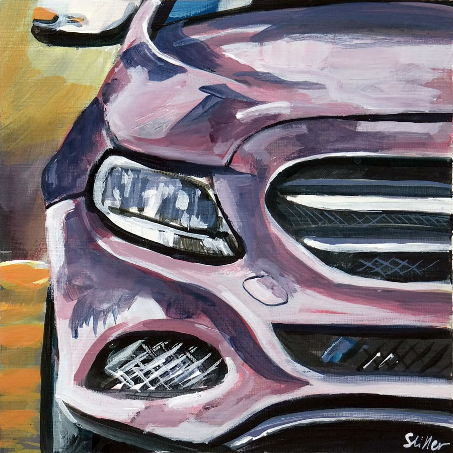 """1832 Mercedes Modern"" original fine art by Dietmar Stiller"