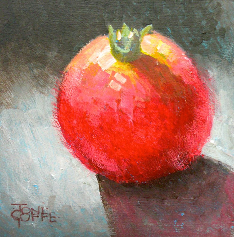 """Pomegranate"" original fine art by Toni Goffe"