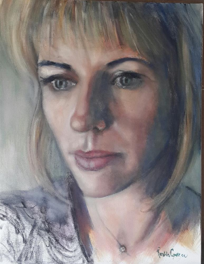 """Moi: first selfie"" original fine art by Rentia Coetzee"