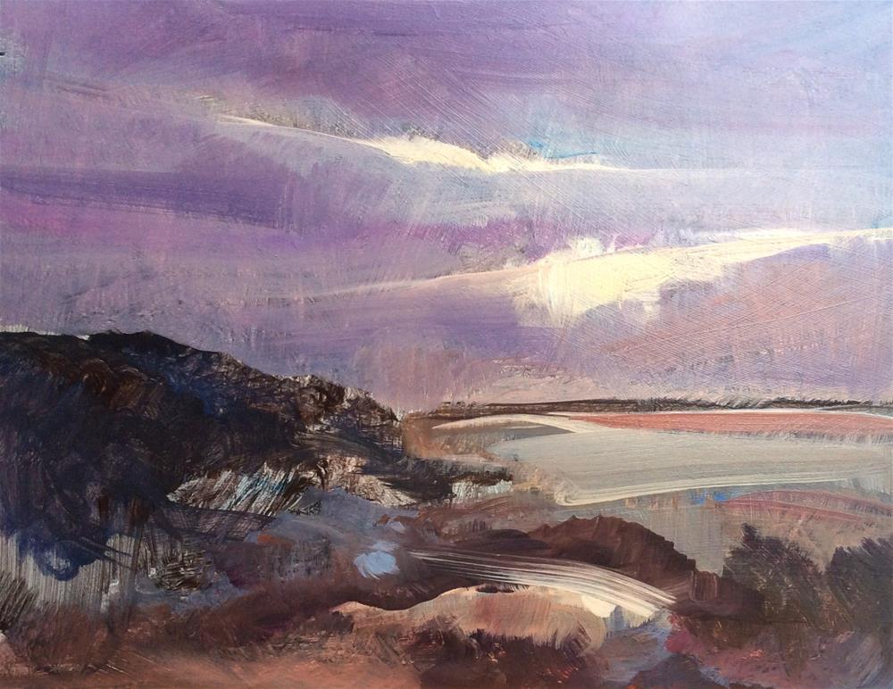 """Evening Coastline"" original fine art by Anne Wood"