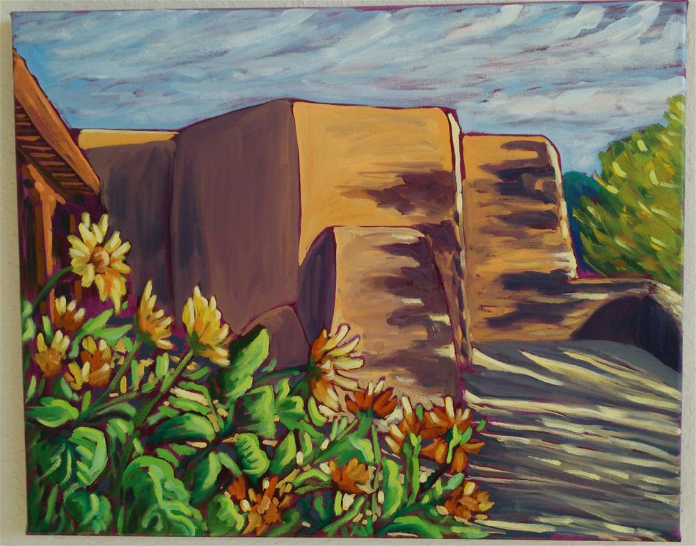 """sunflowers at St Francis de Assisi"" original fine art by Robyn Wellman"